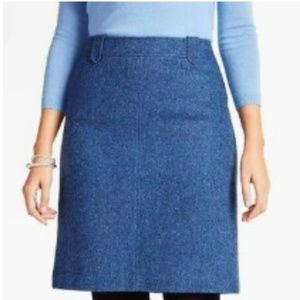 Talbots Herringbone Wool Blend Tweed Skirt